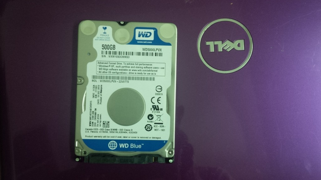 WD HDD 500GB
